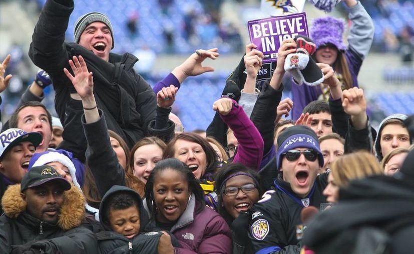La celebración de los aficionados en Baltimore, este martes. (Agencias)