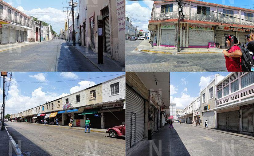 Negocios del Centro de Mérida ya no abrieron sus puertas en miércoles. (Novedades Yucatán)