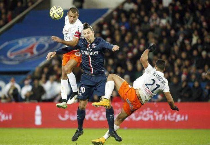 Zlatan Ibrahimovic fue uno de los hombres que marcó gol a favor del PSG ante el Montpellier en la Copa de Francia. (winsports.co)