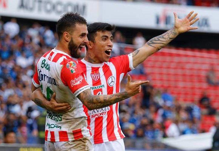 Necaxa marcha en la octava posición de la Liga MX, hasta ahora está calificado a la liguilla del futbol mexicano.(Notimex)