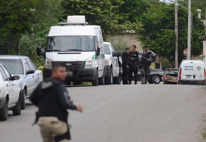 En la gráfica se aprecia la zona donde fue hallado el cuerpo de Luis Luna Guarneros. Hasta ahora hay tres detenidos, uno de ellos un supuesto policía. (Cuauhtémoc Moreno/SIPSE)