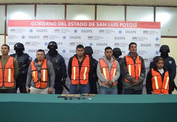 Los detenidos fueron puestos a disposición de la autoridad. (Facebook/SSPE San Luis Potosí)