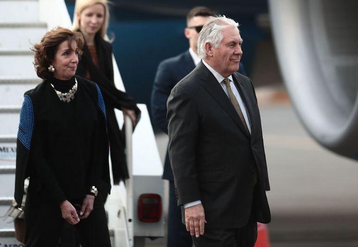 Rex Tillerson, secretario de Estado del equipo de Trump llegó esta tarde a la Ciudad de México. (Contexto/Internet)