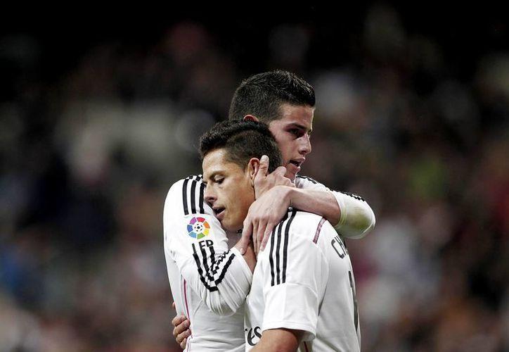'Chicharito' Hernández fue el autor de la asistencia que dio al Real Madrid el tercer tanto sobre el Málaga. (Notimex)
