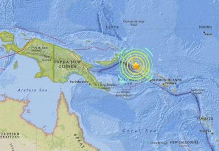 El sismo se localizó a una profundidad de 167 kilómetros bajo la provincia que une a Islas Salomón y Papúa Nueva Guinea.(Archivo/AP)