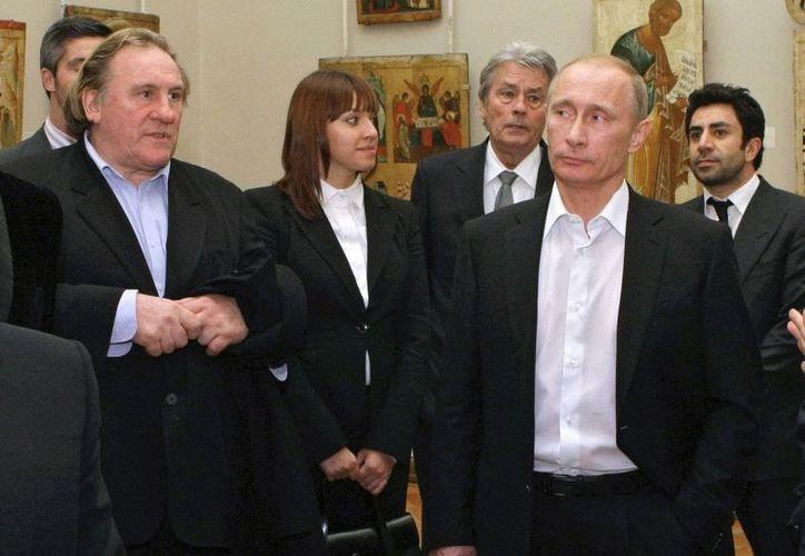 Depardieu en entrevista con el presidente ruso, Vladimir Putin. (Agencias)
