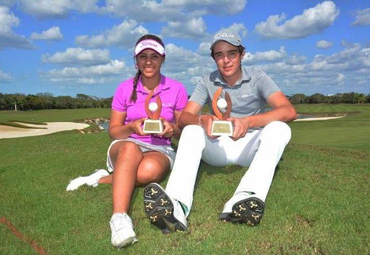María Balcázar y Jorge Villar, monarcas de  la IX Copa Yucatán. (Jorge Acosta/SIPSE)
