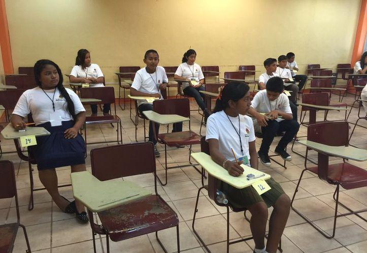 El jefe de sector 05 informó que se triplicó la cifra en comparación con el año pasado, cuando fueron únicamente seis alumnos que participaron en la Olimpiada del Conocimiento. (Octavio Martínez/SIPSE)