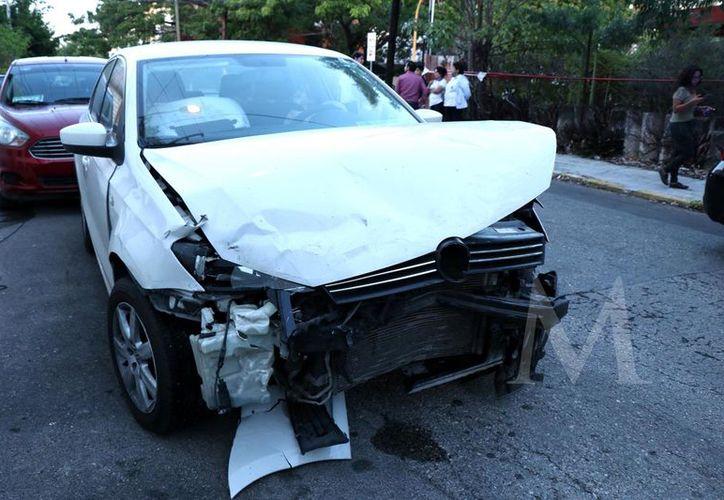 Lo único bueno del accidente es que nadie salió herido.