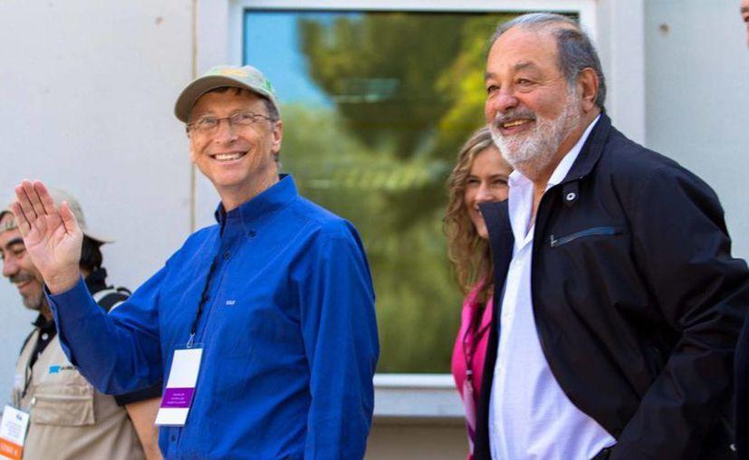 Bill Gates estuvo en México en meses pasados para promover un proyecto conjunto con Slim. (Archivo/Notimex)