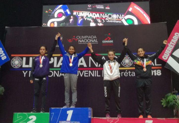 Naomi Pozo obtiene el primer lugar y la medalla de oro en Olimpiada Nacional de Judo. (Foto: Raúl Caballero)