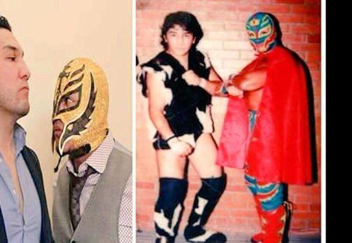 Rey Mysterio y el Hijo del Perro Aguayo se conocieron en el ring desde sus inicios. (Twitter/@reymysterio)