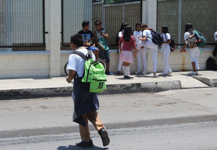 El día se repondrá, por lo que no habrá pérdida efectiva de clases. (Joel Zamora/SIPSE)
