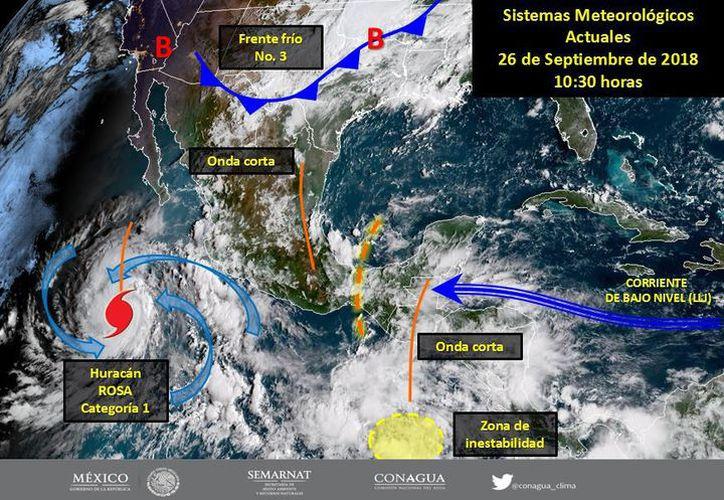 El fenómeno se localiza a alrededor de 820 kilómetros  al oeste-suroeste de Manzanillo, Colima. (López Dóriga)