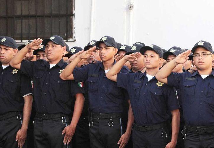 """Los nuevos cadetes de la PMM fueron capacitados en la Academia de Policía """"Luis F. Sotelo de Regil"""", de la SSP. (Cortesía)"""