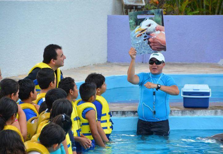 Con el programa se enseña a los estudiantes a cuidar el medio ambiente de Quintana Roo. (Cortesía/Notimex)