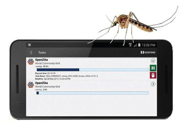 La aplicación OpenZika realizará experimentos virtuales para científicos mientras los dispositivos de los usuarios están en modo inactivo. (Imagen de Excelsior)