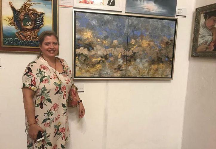 En la muestra participan 56 talentosos pintores que engalanaron con sus obras las paredes del recinto. (Faride Cetina/SIPSE)
