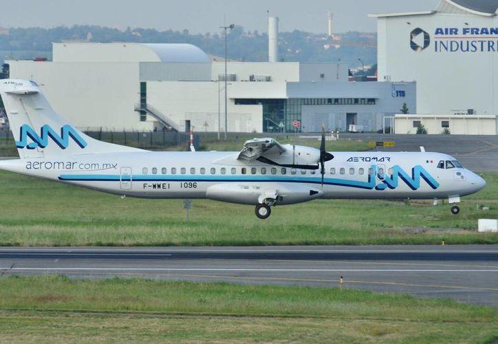 Imagen de un avión similar al que viajará de Mérida a Villahermosa de la línea aérea Aeromar. (wikimedia)