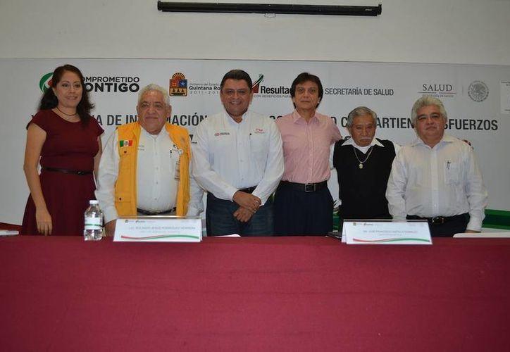 Especialistas de diversos organismos participaron en el protocolo de inauguración. (Cortesía/SIPSE)