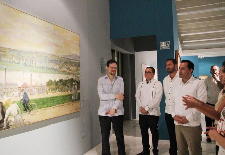 Este viernes el el alcalde Mauricio Vila Dosal inauguró las exposiciones de los museos Soumaya y Del Estanquillo en el Centro Cultural de Mérida Olimpo. (Fotos cortesía del Ayuntamiento)
