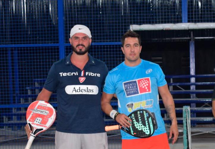 Juan Martin Cesca y Diego Martínez dejaron en el camino a una de las parejas favoritas para llegar al juego por el título. (Raúl Caballero/SIPSE)