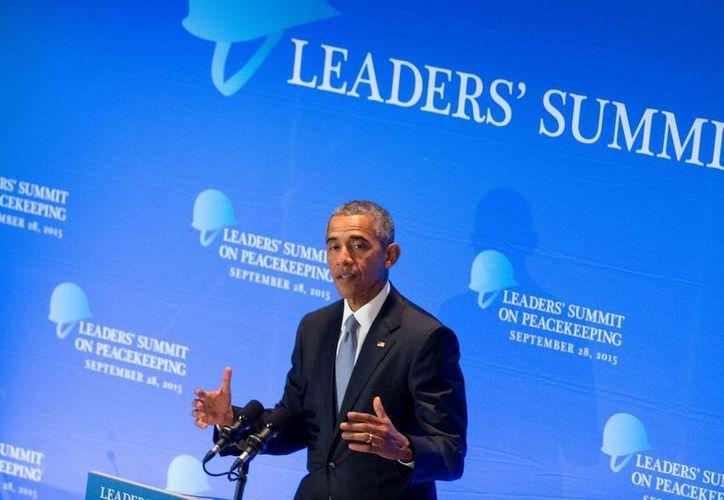 Obama asegura que el combate al terrorismo del Estado Islámico 'es una campaña a largo plazo'. (AP)