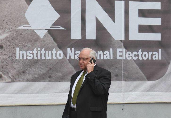 Imagen de archivo de Jorge Herrera, representante del PVEM ante el INE, quien asegura que no se han tomado en cuenta las pruebas que ellos han presentado. (Archivo/Notimex)