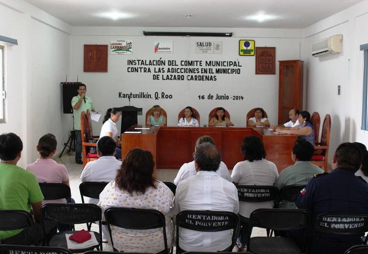 Instalan Comité de Salud contra las Adicciones en Lázaro Cárdenas. (Raúl Balam/SIPSE)