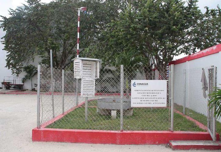 El módulo instalado en el patio de Protección Civil debe ser reemplazado. (Julián Miranda/SIPSE)