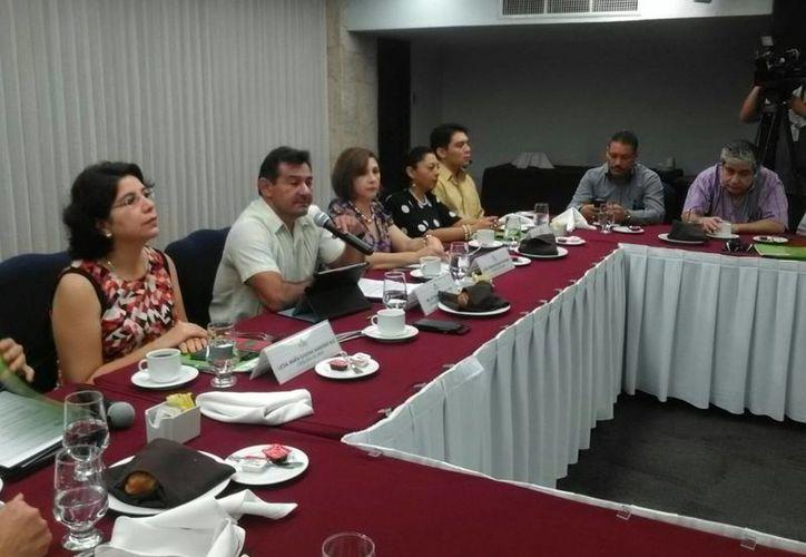 Imagen de la conferencia de prensa del Inaip en el marco de la celebración del Día Internacional de la Protección de Datos Personales. (Ana Hernández/SIPSE)