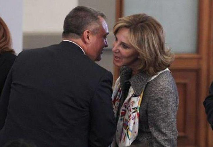 Según la presidenta de Causa en Común,  María Elena Morera, García Luna la amenazó a ella y a su familia por escribir sobre la falta de control de la Policía. (Cuartoscuro/Foto de archivo)