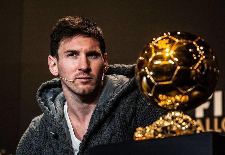 Lionel Messi ha roto grandes récords del futbol internacional. En la imagen, durante la entrega del Balón de Oro FIFA 2012. (Notimex)