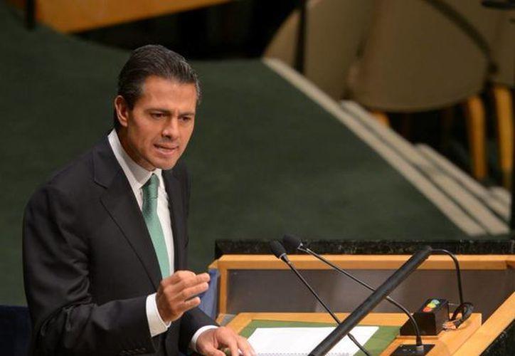 Peña Nieto propuso a la ONU ampliar el número de miembros temporales del Consejo General. (Presidencia)