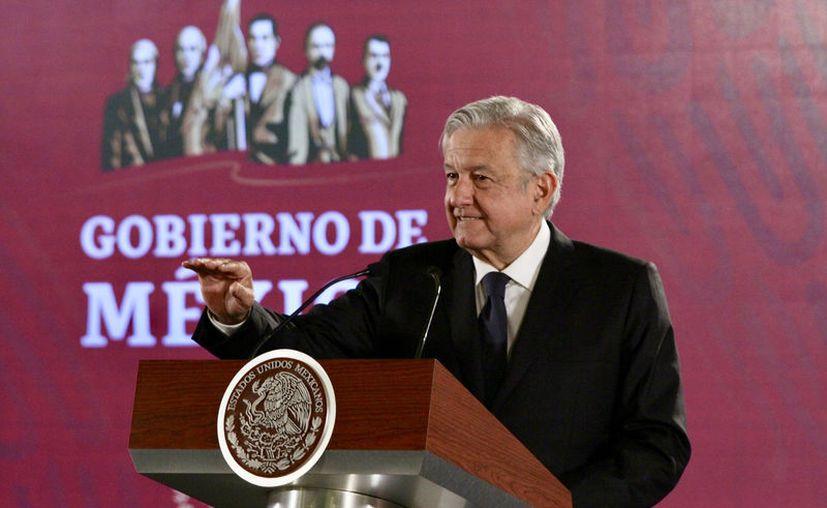 """""""Imagínense que la carta se la haya filtrado el Gobierno español"""", dijo el presidente (Foto: Notimex/Javier Lira)"""