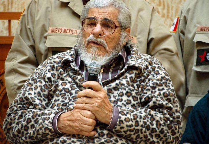López Tijerina encabezó las movilizaciones de los chicanos sobre la posesión de tierras en la década de 1969. (Archivo/AP)