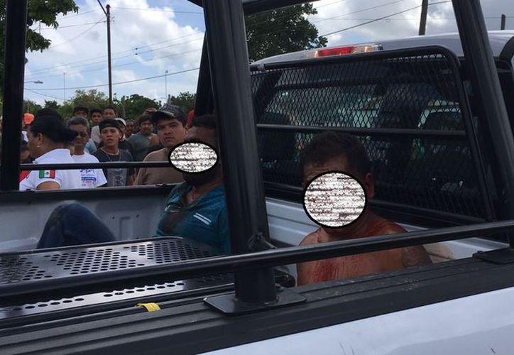 Los pobladores intentaron hacer justicia por propia mano en lo que llegaban las autoridades. (SIPSE)