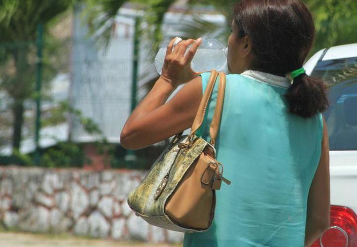 Autoridades de salud recomienda a la población consumir suficientes líquidos y no exponerse mucho al sol. (Joel Zamora/SIPSE)