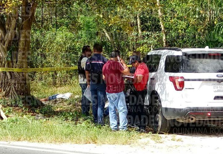 La fémina fue hallada sin vida en un área verde, de la carretera gas Auto. Foto: Eric Galindo