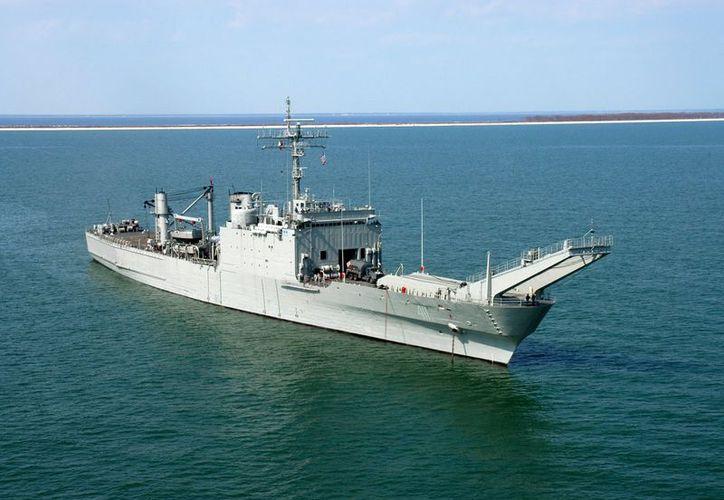 El buque mexicano acudió también al auxilio del desastre en Haití en 2010. (Agencias)