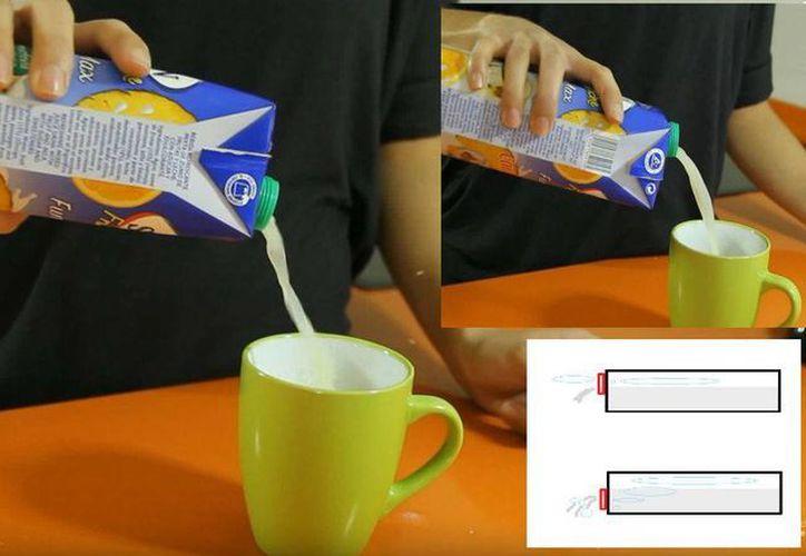 ¿Cómo te sirves la leche o el jugo de caja? Es probable que lo estés haciendo mal. (Cadena Dial)