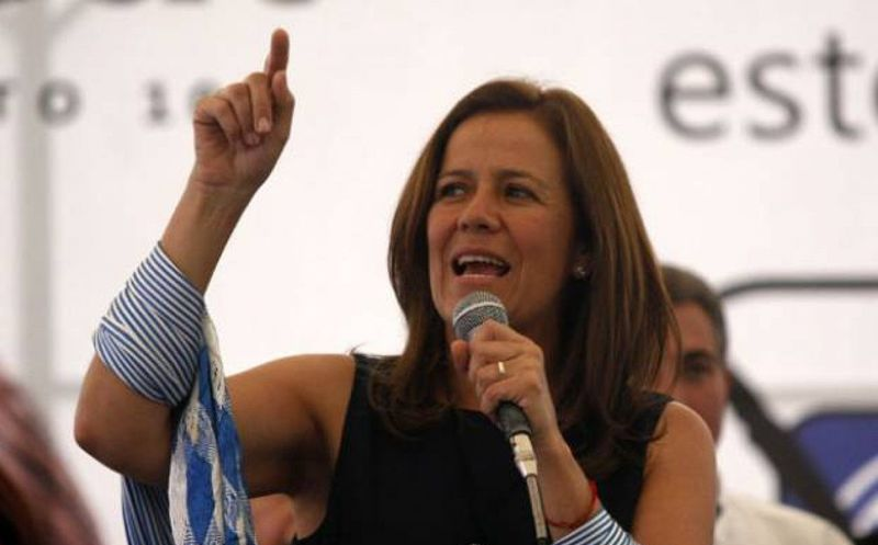 La candidata presidencial independiente Margarita Zavala, tuvo que desalojar su lugar de trabajo. (Foto: López Dóriga)
