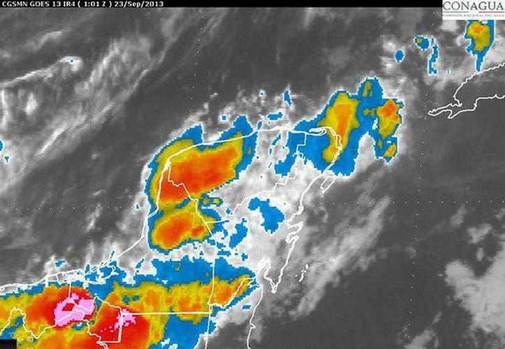Conagua prevé que esta semana sigan las lluvias fuertes en la región sureste. (smn.conagua.gob.mx)