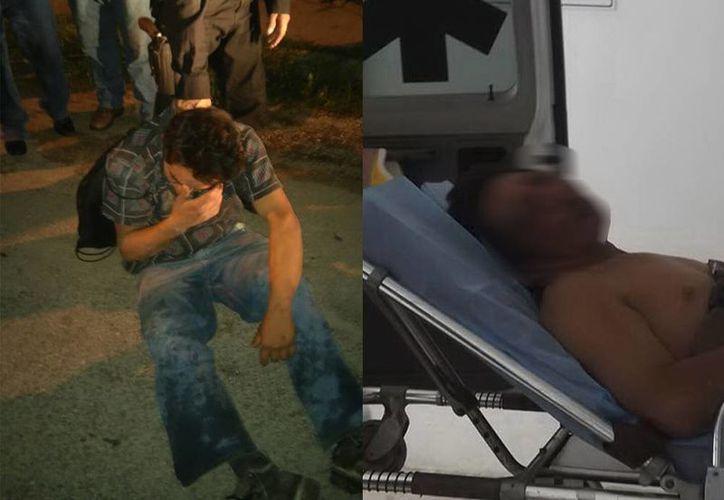 A la izquierda, el asaltante que fue detenido por vecinos de San Lorenzo en Umán; a la derecha, Nicolás O. P. quien agredió a machetazos al comisario de Xcan y luego fue detenido y golpeado por vecinos. (SIPSE)