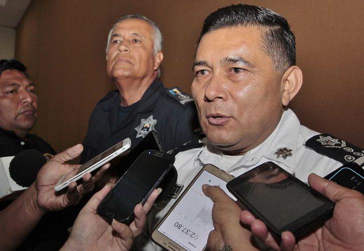 Rodolfo Del Ángel Campos, titular de la Secretaría de Seguridad Pública (SSP) de Quintana Roo estuvo en la isla para reunirse con empresarios a puerta cerrada. (Gustavo Villegas/SIPSE)