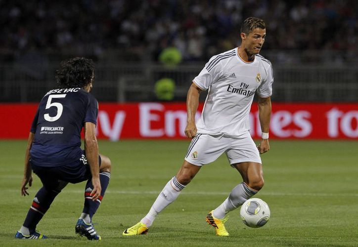 Cristiano Ronaldo durante un partido amistoso frente al Lyon. (Agencias)
