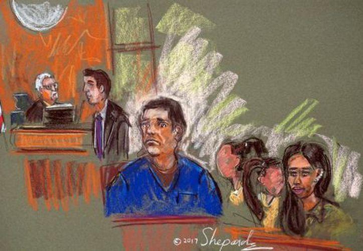 'El Chapo' compareció en la corte federal de Brooklyn. (Foto: Notimex)