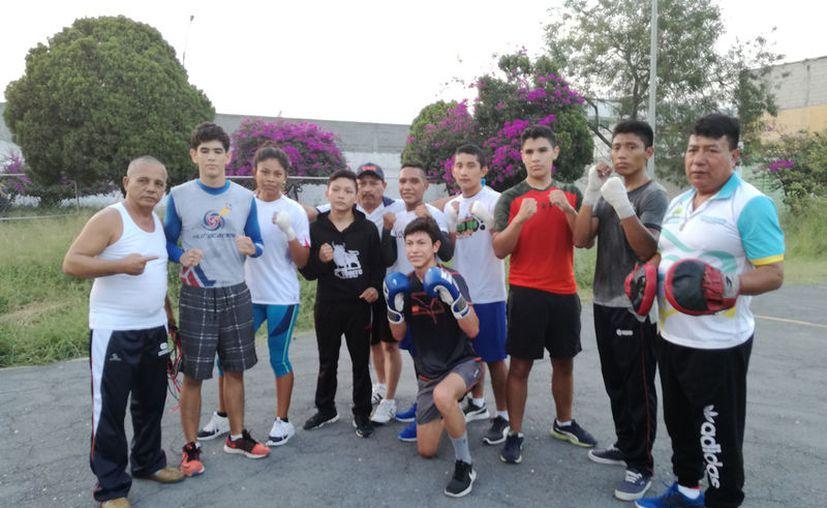 La selección de boxeo de Quintana Roo realizó su último entrenamiento en Monterrey. (Foto: Raúl Caballero)