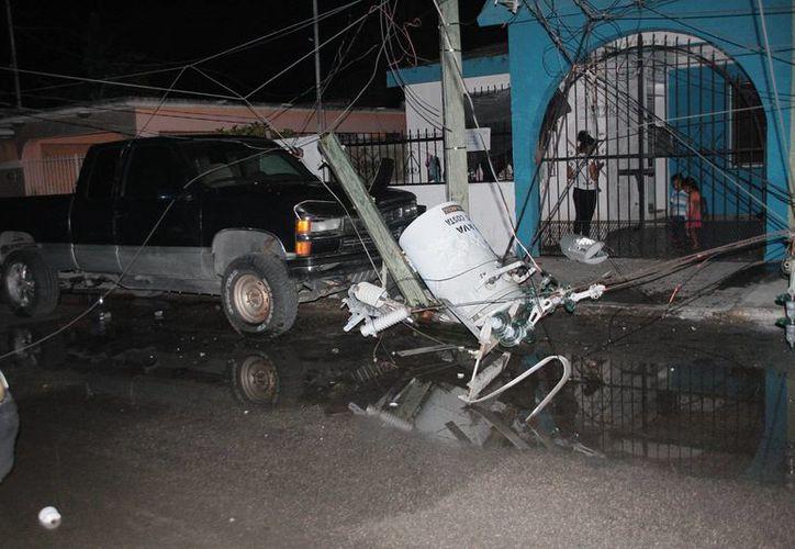 El percance sucedió en la calle privada Miguel Hidalgo, entre las avenidas 65 y 70. (Julián Miranda/SIPSE)