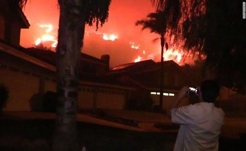 A través de Twitter se informó el cierre de varios carriles en la autopista debido al incendio. (López Dóriga Digital)